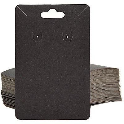 Cartela Para Brinco e Corrente  - 6,5 X 10 cm - C40B Preta Fosca