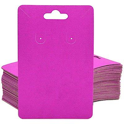 Cartela Para Brinco e Corrente  - 6,5 X 10 cm - C40B Pink Fosca