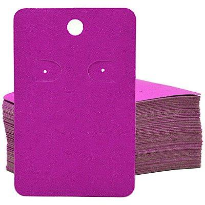 Cartela Para 1 Par De Brincos  - 4,5 x 7 Cm - C41B Pink Fosca