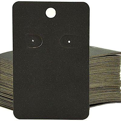 Cartela Para 1 Par De Brincos  - 4,5 x 7 Cm - C41B Preta Fosca