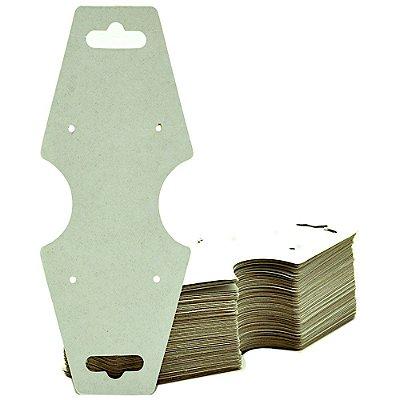 Cartela Gravata Media Para Conjunto - 4,9 X 12 cm - C29B Branco Fosco