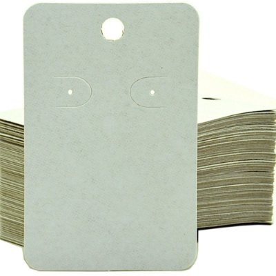 Cartela Para Brinco e Corrente  - 6,5 X 10 cm - C40B Branca Fosca