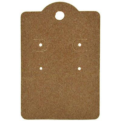 Cartela Capela para 2 Pares de Brincos - 5,5 x 8 cm - C190 Kraft