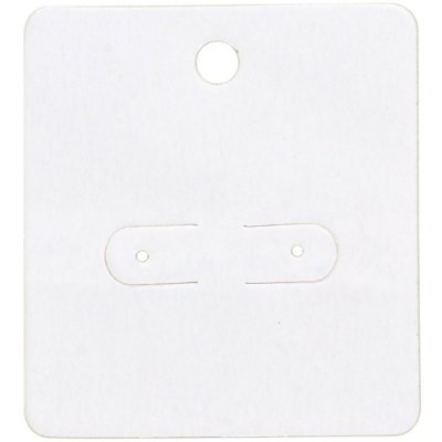 Cartela Para Brincos 5,5 x 6 cm - C1 Branca