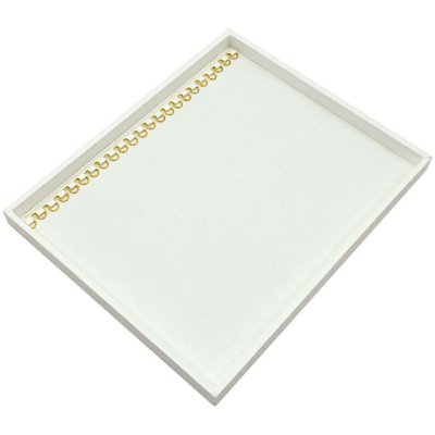Bandeja Grande Pulseira com Argolas 36,5 x 29,5 x 2,3 cm - Sem Capa Corino Branco