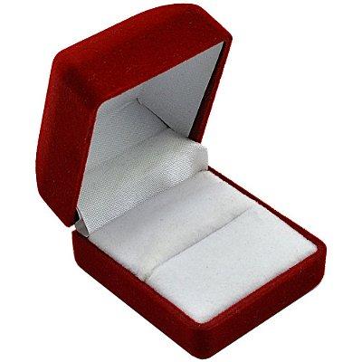 Caixinha de veludo para anel - 5 x 4,5 cm - Vermelha