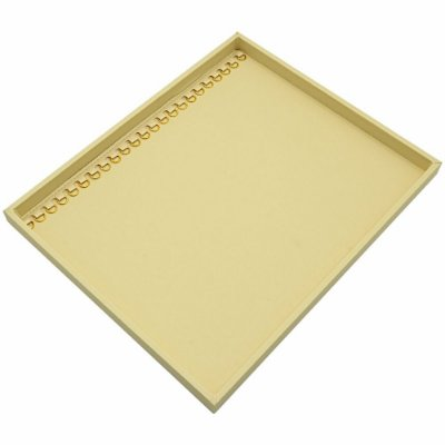Bandeja Grande Pulseira com Argolas 36,5 x 29,5 x 2,3 cm - Sem Capa Corino Marfim