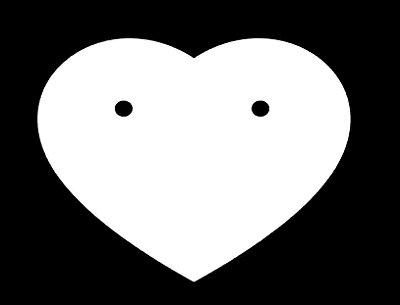 Etiqueta de Coração para Brinco