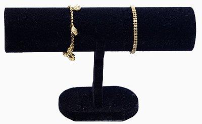 Expositor Para Pulseira Bracelete Relógios Veludo - E1 - Preto