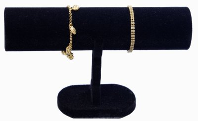 Expositor Para Pulseira Bracelete Relógios Veludo Preto