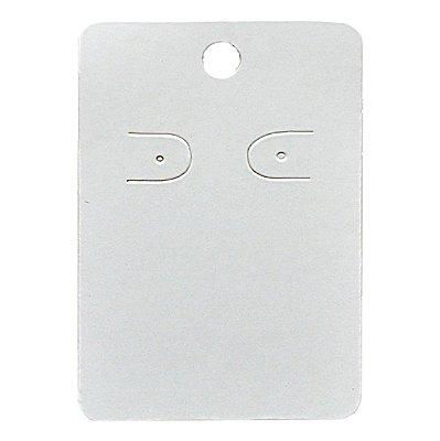 Cartela Para 1 Par De Brincos  - 4,5 x 7 Cm - C41 Branca
