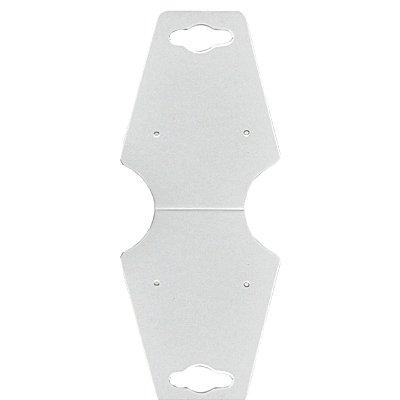 Cartela Gravata Média Para Conjunto - 4,9 X 12 cm - C29 Branca