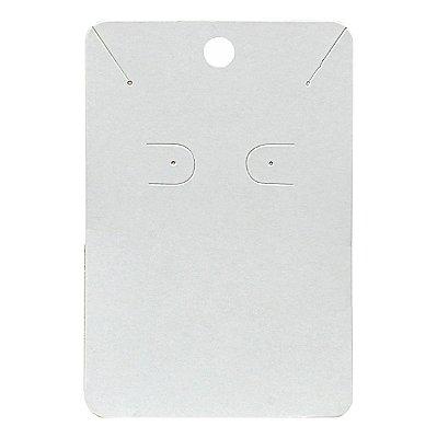 Cartela Para Brinco e Corrente  - 6,5 X 10 cm - C40 Branca