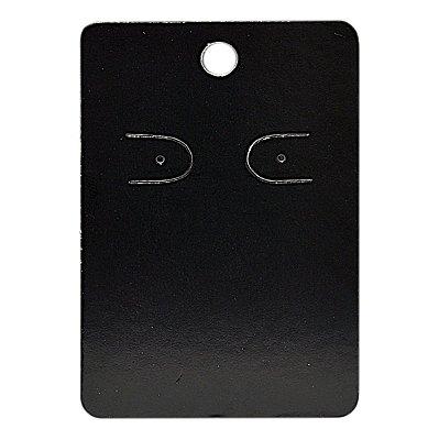 Cartela Para 1 Par De Brincos  - 4,5 x 7 Cm - C41 Preta