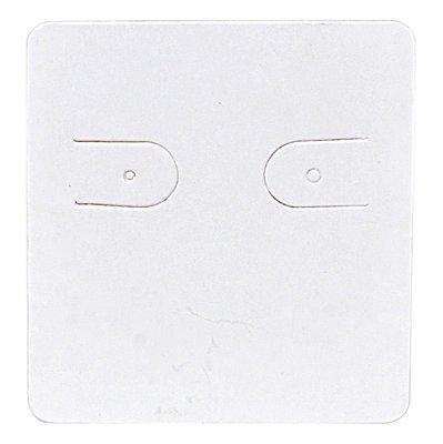 Cartela Para 1 Par de Brincos - 3,9 x 4,4 cm - C60 Branca