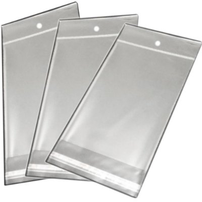 Saquinho Plástico Adesivado - 6X25 com furo