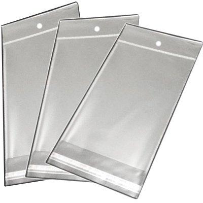 Saquinho Plástico Adesivado - 8x15 com furo