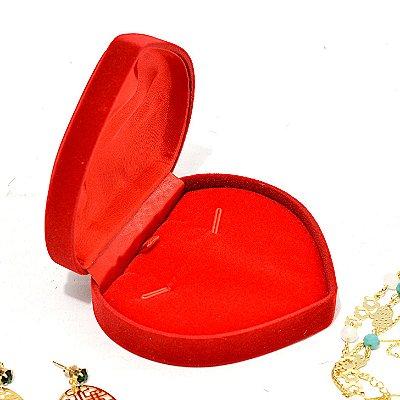 Caixinha Estojo Coração de veludo Medio para Colar