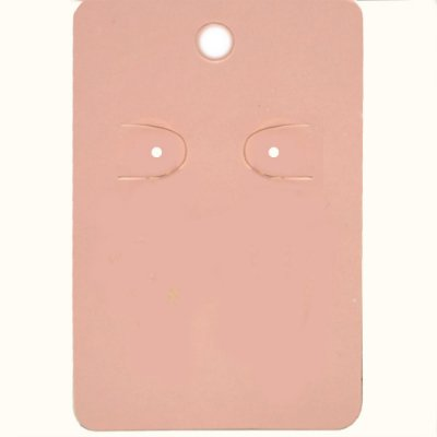 Cartela Para 1 Par De Brincos  - 4,5 x 7 Cm - C41 Rosa