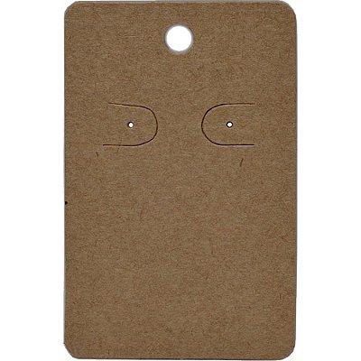 Cartela Para 1 Par De Brincos  - 4,5 x 7 Cm - C41 Kraft