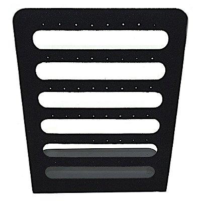 Expositor Para Brincos 22 x 31,5 cm - Vazado - Veludo Preto
