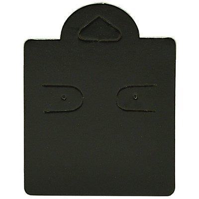Cartela Capelinha para 1 Par de Brincos - 4 x 5,5 cm - C38 Preta