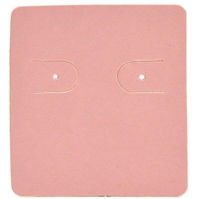 Cartela Para 1 Par de Brincos - 3,9 x 4,4 cm - C60 Rosa