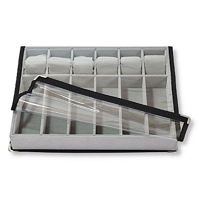 Bandeja Grande Para 6 Oculos E 6 Relogios - Braceletes - Pulseiras - Com Capa