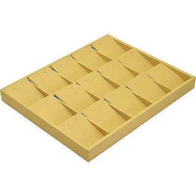 Bandeja Grande Brinco Conjunto 15 Espaços com Cartelas Corino Marfim sem capa