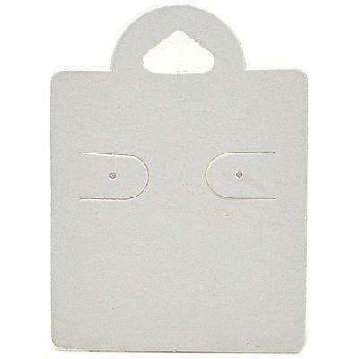Cartela Capelinha para 1 Par de Brincos - 4 x 5,5 cm - C38 Branca