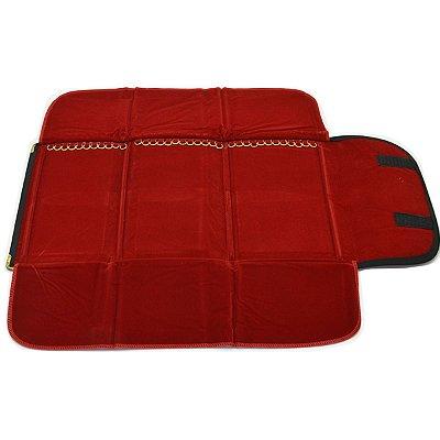 Mostruário Médio para Correntes 35 Argolas 62 x 52 cm Vermelho