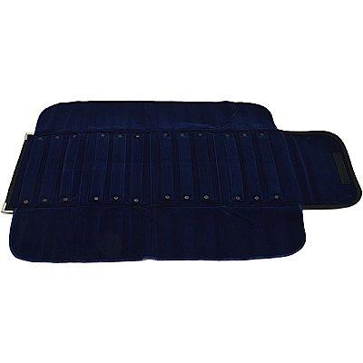 Mostruário Extra Grande para Brincos 12 Rolinhos 85 x 52 cm Azul