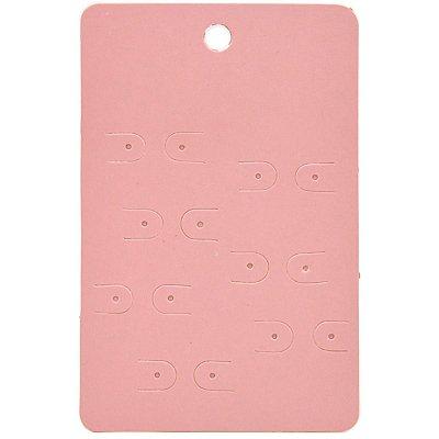 Cartela Semaninha para 7 Pares de Brincos - 7,3 x 11,3 cm - C140 Rosa