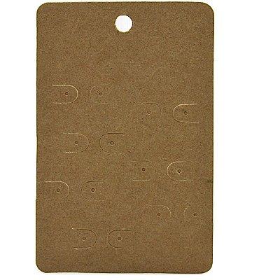 Cartela Semaninha para 7 Pares de Brincos - 7,3 x 11,3 cm - C140 Kraft
