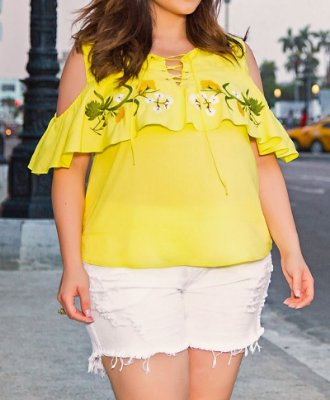 SHORT PLUS SIZE BLANCA