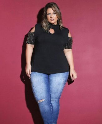 BLUSA PLUS SIZE PARTY ROCK