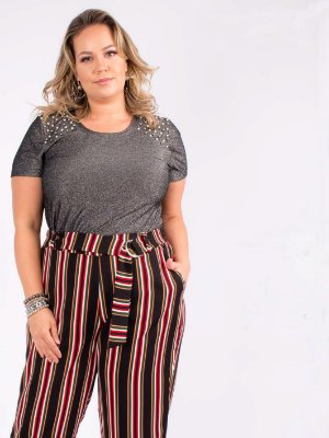 BLUSA PLUS SIZE LUREX