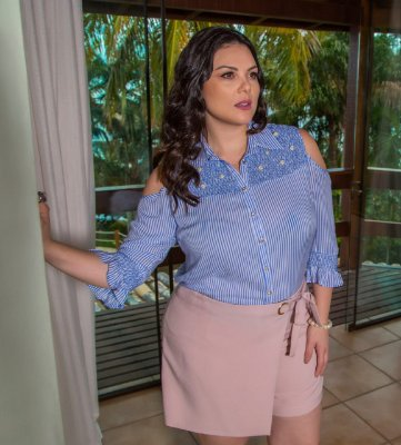 SHORT SAIA PLUS SIZE TRANSPASSADO