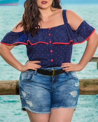 SHORT JEANS PLUS SIZE VIC