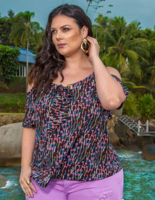 BLUSA PLUS SIZE FASHION