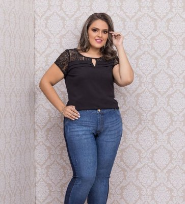 BLUSA PLUS SIZE ROMANTIC