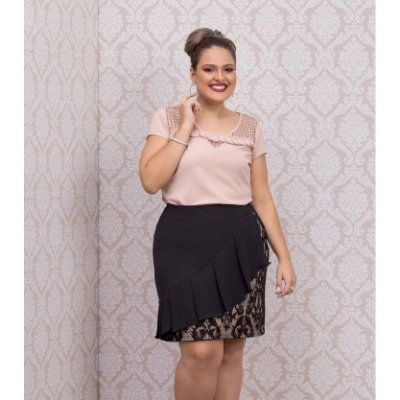BLUSA PLUS SIZE ROMANTICA