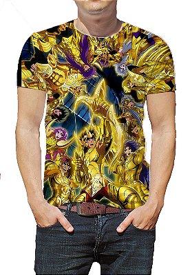 CAVALEIROS DO ZODÍACO - Cavaleiros de Ouro - Camiseta de Animes