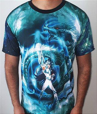 CAVALEIROS DO ZODÍACO - Shiryu de Dragão - Camiseta de Animes