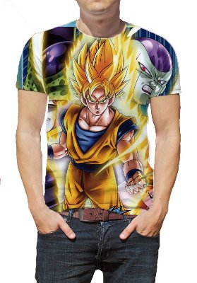 DRAGON BALL - GOKU SUPER SAYAJIN 2 - Camiseta de Animes