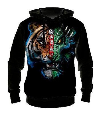 ANIMAIS - Tigre Dragão - Casaco de Moletom Variado