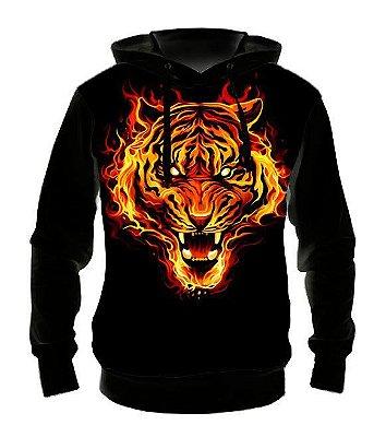 ANIMAIS - Tigre Modelo 2 - Casaco de Moletom Variado