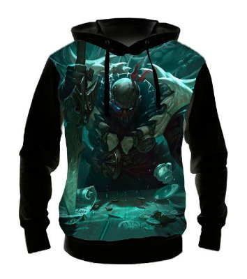 LEAGUE OF LEGENDS - Pyke Estripador - Casaco de Moletom Games