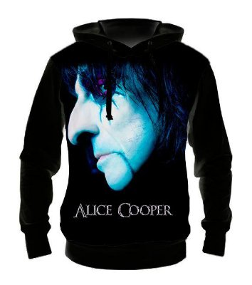 ALICE COOPER - Face - Casaco de Moletom Rock Metal