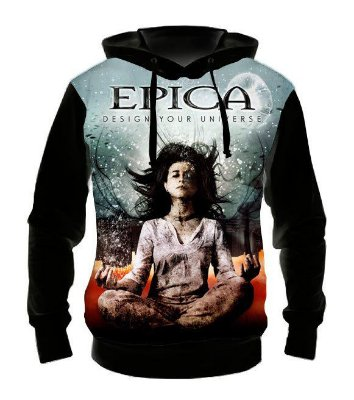 EPICA - Design Your Universe - Casaco de Moletom Rock Metal